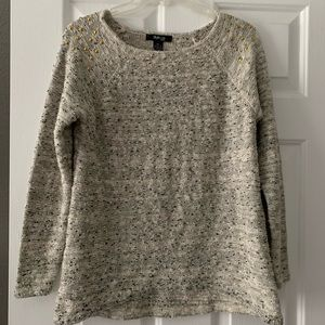 Sweater with gold stud detail